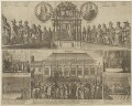 Execution of King Charles I (includes portraits of Thomas Fairfax, 3rd Lord Fairfax of Cameron; Oliver Cromwell), by Unknown artist, published by  Francoys van Beusekom - NPG D33017