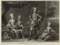 Children of King George II, published by Edward Cooper, after  Unknown artist - NPG D33029