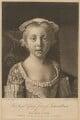 Princess Louisa Anne, by Richard Houston, published by  Samuel Okey, after  Jean Etienne Liotard - NPG D33051