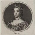 Queen Mary II, by Simon François Ravenet, after  Sir Godfrey Kneller, Bt - NPG D31076