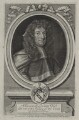 Sir Creswell Levinz, by Robert White, after  Sir Godfrey Kneller, Bt - NPG D31195