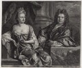 Grinling Gibbons; Elizabeth Gibbons, by and published by John Smith, after  John Closterman - NPG D31304
