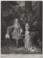 Prince James Francis Edward Stuart; Princess Louisa Maria Theresa Stuart, by and published by John Smith, after  Nicolas de Largillière - NPG D31377