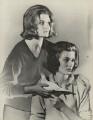 Elizabeth Roper-Curzon (née Scrymgeour-Wedderburn), Lady Teynham; Janet Mary Fox-Pitt (née Scrymgeour-Wedderburn), by Madame Yevonde - NPG x29829