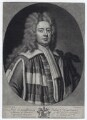 John Carteret, 2nd Earl Granville when Baron Carteret, by Peter Pelham, after  Sir Godfrey Kneller, Bt, published by  John Bowles - NPG D27427