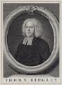 Thomas Ridgley, by John Vandergucht, after  Bartholomew Dandridge - NPG D27498