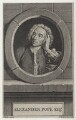 Alexander Pope, by Charles Grignion, after  Jean Baptiste van Loo - NPG D27568