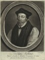 Nicholas Ridley, by John Faber Sr, retouched by  Richard Houston, printed for  Elizabeth Bakewell, printed for  Henry Parker - NPG D33372