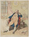 'A voluptuary under the horrors of digestion' (King George IV), by James Gillray, published by  Hannah Humphrey - NPG D33359