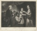 George Clive with his family (Louisa Keppel (née Clive); Sidney Clive (née Bolton) and an unknown woman), by Samuel William Reynolds, after  Sir Joshua Reynolds - NPG D33531