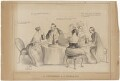 'A Luncheon a l'Anglaise', published by Messrs Fores, after  Unknown artist - NPG D33585