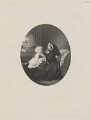 Prince Albert Victor, Duke of Clarence and Avondale; Queen Victoria, by William Holl Jr, published by  John Mitchell, after  (Cornelius) Jabez Hughes - NPG D33645