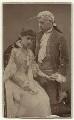 Mary Moore (Lady Wyndham) as Ada Ingot; Sir Charles Wyndham as David Garrick in 'David Garrick', by Herbert Rose Barraud - NPG x12589