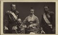 The Duchess of Edinburgh with her husband, father and brother, by W. & D. Downey - NPG x127201