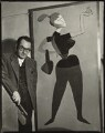 Man Ray with his painting 'Mademoiselle H', by Ida Kar - NPG x132224