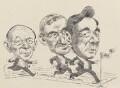 Sir John Tusa; John Birt, Baron Birt; Sir Michael Checkland ('The Race for the Director-Generalship of the BBC'), by David Smith - NPG 6853