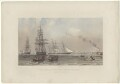 'The arrival of the Royal Yacht off Gravesend, March 7th, 1863', by Robert Charles Dudley - NPG D33984