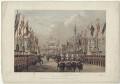 'London Bridge, March 7th 1863' (including King Edward VII; Alexandra of Denmark), by Robert Charles Dudley - NPG D33986