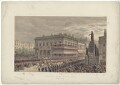 'Waterloo Place and Pall Mall, March 7th 1863', by Robert Charles Dudley - NPG D33991