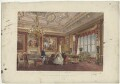 'The Rubens Room, Windsor Castle' (including King Edward VII; Queen Alexandra), by Robert Charles Dudley - NPG D33994