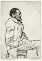 Joseph Conrad listening to music, by Sir Muirhead Bone - NPG D34076