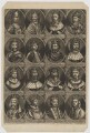 The Sovereigns of England, part 1, by John Carwitham, printed and published by  Richard Caldwell, after  Unknown artist - NPG D34141