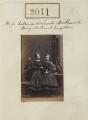 Katherine Henrietta Venezia Grey (née Milbank); Louisa Elizabeth Jane Arkwright (née Milbank), by Camille Silvy - NPG Ax51401