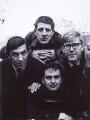 Peter Edward Cook; Jonathan Miller; Dudley Moore; Alan Bennett, by Lewis Morley - NPG x32732