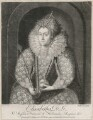 Queen Elizabeth I, by Richard Houston, printed for  Elizabeth Bakewell, printed for  Henry Parker, after  Isaac Oliver - NPG D9362
