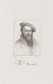 Sir Thomas Wyatt, by John Henry Robinson, published by  William Pickering, after  Hans Holbein the Younger - NPG D9358