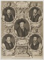 'The Bishops who suffer'd Martyrdom for the Protestant Faith; under the Persecution of Queen Mary I', by and sold by Robert White, printed and sold by  John King - NPG D34237