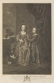 Philadelphia and Elizabeth Wharton, by Pieter Stevens van Gunst, published by  John Boydell, published by  Josiah Boydell, after  Sir Anthony van Dyck - NPG D34295