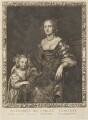Margaret Montagu (née Russell), Countess of Manchester with an unknown daughter, by and published by Pierre Lombart, after  Sir Anthony van Dyck - NPG D34297