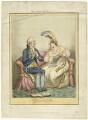 'The Bulstrode siren' (William Henry Cavendish Bentinck, 3rd Duke of Portland; Elizabeth Billington (née Weichsel)), published by John Miller, published by  William Blackwood, after  James Gillray - NPG D34317
