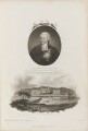 Colin Milne with 'A View of Greenwich Hospital', by William Holl Sr, after  John Russell, and probably by  James Newton, published by  Robert John Thornton - NPG D34346