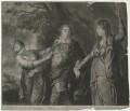 David Garrick ('Reddere Personae scit convenientia cuique'), by Edward Fisher, after  Sir Joshua Reynolds - NPG D34383