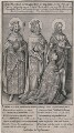 The Wilton Diptych (King Richard II), by Wenceslaus Hollar, after  Unknown artist - NPG D9392