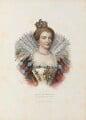 Marie de Medici of France, by Jozef Symon Kurowski, printed by  François Le Villain, published by  Edward Bull, published by  Edward Churton, after  Unknown artist - NPG D34626
