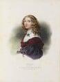 Christina, Queen of Sweden, by Achille Devéria, printed by  François Le Villain, published by  Edward Bull, published by  Edward Churton, after  Sébastien Bourdon - NPG D34628