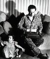 Kenneth Peacock Tynan with his daughter Tracy Tynan, by Elsbeth R. Juda - NPG x132540