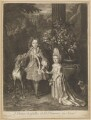 Prince James Francis Edward Stuart; Princess Louisa Maria Theresa Stuart, by John Smith, after  Nicolas de Largillière - NPG D34723
