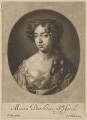 Mary of Modena, by and published by Gerard Valck, after  Sir Peter Lely - NPG D34729