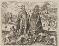 Frederick V, King of Bohemia and Elector Palatine; Princess Elizabeth, Queen of Bohemia and Electress Palatine, after Unknown artist - NPG D9482