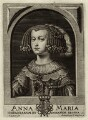Mariana of Austria, Queen of Spain, by Frederik Bouttats the Younger, published by  Johannes Meyssens - NPG D34776