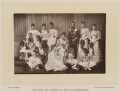 'The Duke and Duchess of York and Bridesmaids', by W. & D. Downey, published by  Cassell & Company, Ltd - NPG Ax16180