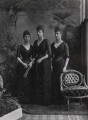 Princess Victoria of Wales; Maud, Queen of Norway; Princess Louise, Duchess of Fife, by Lafayette (Lafayette Ltd) - NPG Ax36414