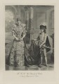 Queen Alexandra when Princess of Wales as Queen Marguerite de Valois and Hon. (Alexandra) Louvima Elizabeth Checkley (née Knollys) as her page), by Lafayette (Lafayette Ltd), photogravure by  Walker & Boutall - NPG Ax41003