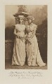 Lady Margaret Frances Susan Orr-Ewing (née Innes-Ker) as Lady Eglinton and Lady Victoria Alexandrina Villiers (née Innes-Ker) as Elizabeth Linley, after miniatures by Cosway, by Lafayette (Lafayette Ltd), photogravure by  Walker & Boutall - NPG Ax41169