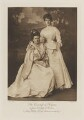Sydney Charlotte Keith-Falconer (née Montagu), Countess of Kintore as Jane, Duchess of Gordon; Lady Hilda Madeline Keith-Falconer, by Alexander Bassano, photogravure by  Walker & Boutall - NPG Ax41211
