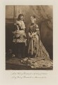 Lord Henry Cavendish-Bentinck as the King of Poland; Lady Olivia Caroline Amelia Cavendish Bentinck (née Taylour) as Mademoiselle Ixe, by Lafayette, photogravure by  Walker & Boutall - NPG Ax41250
